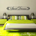 Sweet Dreams Vinyl Art Home Wall Room Quote Decal Sticker Decoration