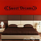 Sweet Dreams Vinyl Art Scroll Home Wall Room Quote Decal Sticker Decoration