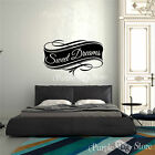 Sweet Dreams Vinyl Art Home Design Wall Bedroom Quote Decal Sticker Decoration