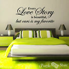 Love Story Vinyl Art Home Wall Bedroom Room Quote Decal Sticker Decoration Decor