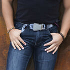 FlyBuckle Fashion Belt - Made with Airplane Seat Belt Buckle and Strap (6 Sizes)