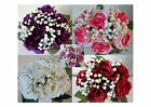 HAND TIED ROSE BOUQUET/BUNCH - ARTIFICIAL SILK FLOWERS/WEDDING//BRIDAL/GRAVE