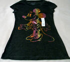 Minnie Mouse Women's Jrs. Tees S Black With Shiny Minnie On Front Cute