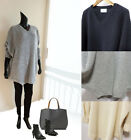 Soft Loose relaxed Oversized style v neck knit sweater tunic top