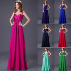 Long Chiffon Evening Formal Party Ball Gown Prom Bridesmaid Dress Wedding Dress