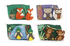 CUTE FELT ANIMAL PURSE & BADGE - CHOOSE YOUR DESIGN - BRAND NEW OWL, FOX, MONKEY