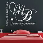 TOGETHER FOREVER PERSONALISED wall art sticker love bedroom home decal vinyl