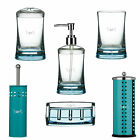 Turquoise Bathroom Accessories Soap Dispenser Tooth Brush Holder Toilet Set Gift