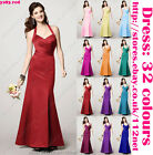 Halterneck Bridesmaid dress evening dress prom dress party dress ball dress gown