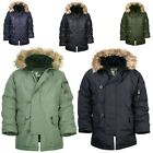 WINTER WARM VINTAGE MENS Fur HOOD MILITARY ARMY PADDED PARKA COAT JACKET JUMPER