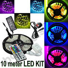 5050 RGB SMD LED Strip Light + 44Key IR Remote Controller + Power Supply Adapter