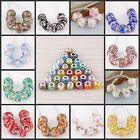 Wholesale Murano Lampwork Glass Flower Pattern Big Hole Beads Fit Charm Bracelet