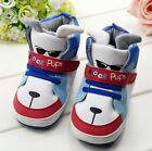 S024 Fashion New Handsome Cute Dog Head Velcro Style Baby Boy Shoes Soft Sole US