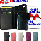 FLIP WALLET LEATHER CASE COVER & FREE SCREEN PROTECTOR & STYLUS FOR iPHONE 4G 4S