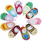Baby boy girl toddler kids ankle slipper cotton socks anti-skid booties 6-24mths