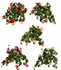Artificial Flowers Geranium Trail Hanging Basket Bush 50cm Memorial Geraniums