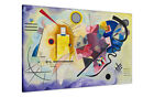 WASSILY KANDINSKY YELLOW RED BLUE CANVAS PAINTING RE-PRINT / PORTRAIT BOX PRINT