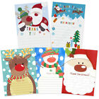 Christmas Thank You Cards Letters Pk of 20 - Santa Reindeer or Snowman
