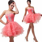 2014 Sweetheart Voile Party Bridesmaid Formal Evening Short Prom Dress Size 6-20
