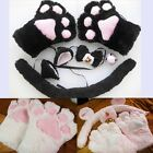 Cat cosplay Neko anime fancy costume set cute plush glove paw ear tail lovely SH