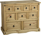 Furniture Best Deals - CORONA MEXICAN PINE CHEST OF DRAWERS, MERCHANT CHEST, BEDSIDE CABINET, 3 DRAWER