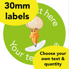 30mm Personalised Reward stickers Brain Pencil Science Math Teacher School label