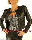 New Ladies leather jacket waist length top trendy detailed zipper pp