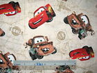 Disney Cars McQueen Mater cotton quilting fabric *Choose design & size