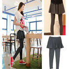 Sexy Womens Tight Trousers Stretch Culottes Soft Cotton 2 Skirt Pants Leggings