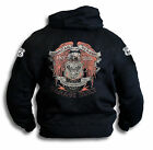 American Classic Custom Build Biker Harley Eagle Wings 66 Adult Hoodie Sm - 2XL