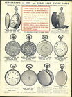1912 AD 20 PG 16 Size Pocket Watch Cases Paragon Western Fahys Boss Crown Elgin
