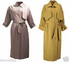 ASOS - Womens Ladies Pink Soft Drape Button Up Smart Business Trench Coat Mac