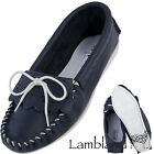 WOMENS, LADIES NAVY AND WHITE MOCCASIN SLIPPER WITH PVC SOLE SIZES UK3 TO UK8