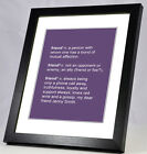A4 Personalised Dictionary Definition of a Friend Print. Birthday Christmas Gift