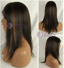 """Hot 10""""-22"""" Yaki straight lace front wig 100% remy human hair wigs ladies wigs"""