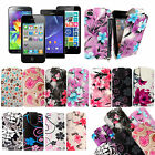 PRINTED LEATHER MAGNETIC FLIP POUCH CASE COVER FOR VARIOUS PHONES +GUARD +STYLUS