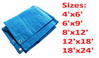TARPAULIN NEW HEAVY DUTY WATERPROOF CAMPING GROUND SHEET TARP DIFFERENT SIZES