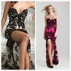 NEW Lace Evening Gown Prom Ball Cocktail Party Wedding Bridal Formal Dress:6-16