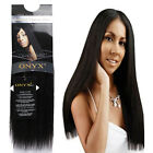 "Black Diamond ONYX 100% Human Hair Yaki Weaving Extension 10""12""14""16""18"""