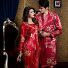 Free shipping Red/Polyester Woman/Man Sleepwear/ Pajama Sets M/L/XL/XXL