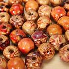 Hot 100pcs 10mm Mixed Wood Round Beads for Jewelry Making Loose Spacer Charms