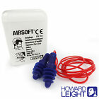 REUSABLE HOWARD LEIGHT Earplugs - AIRSOFT 30dB Silicone Ear Plugs - FREE UK P&P!