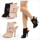 Wild Diva Cecily-06 Side Buckle Peep Toe Bootie Women Shoes