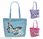 Ladies Womens Large Beach Shoulder Shopping Carrier Summer Bag Butterfly Design