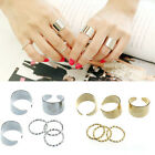 1PC 6 sets Punk Gold Stack Plain Band Midi Mid Finger Knuckle Ring Set Cheap