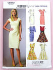Vogue V8972 Sewing Pattern Misses' Dress - Lined Close Fit Bodice - Easy Options