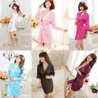 New Sexy Women Grown Spleey Ware Rayon Silk Sleepwear Nightdress Robes Pajamas