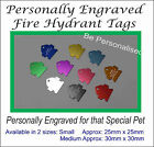 Aluminium Fire Hydrant Pet Tag with Personalised Engraving for Dogs Cat Pet Tags