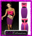 ♚ Celeb Bodycon TOWIE Purple Pink Bandage Dress Celebrity SIZE 6 8 10 12 ♚Jasmin