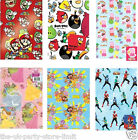 Childrens Character GIFT WRAP & TAGS Birthday Sheets Paper Disney Characters